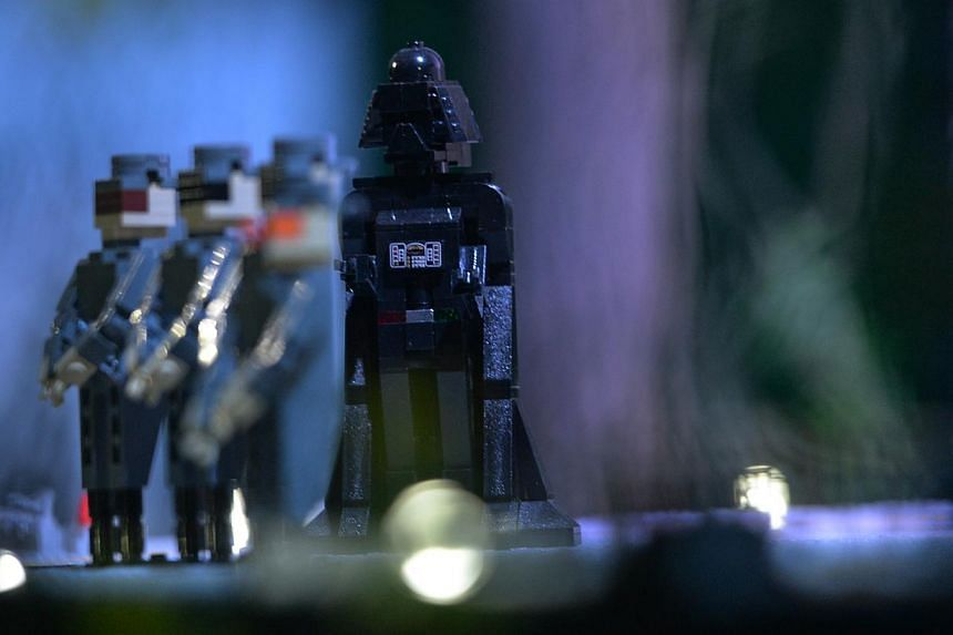 The only Darth Vader figure in the Lego Star Wars Miniland in Legoland, Malaysia on Sept 3, 2014. on Sept 3, 2014. -- ST PHOTO: JOYCE FANG