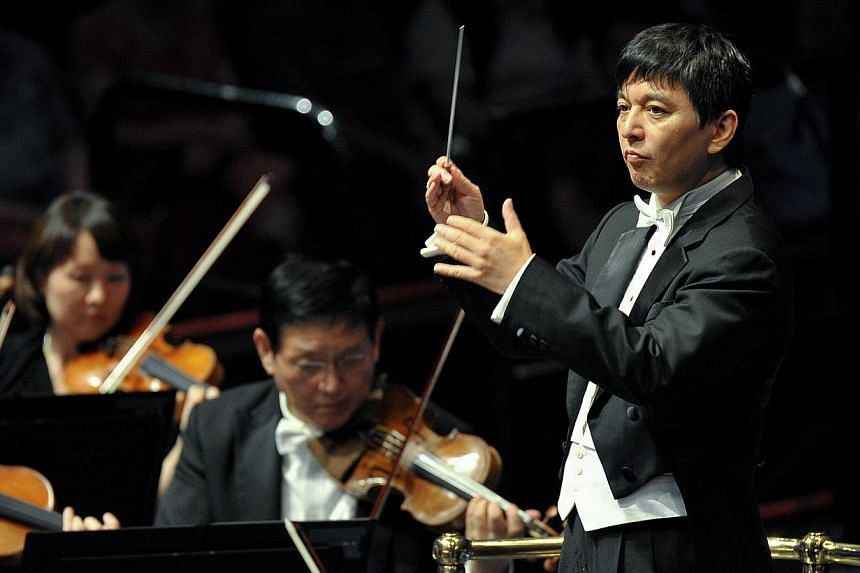 The Singapore Symphony Orchestra, led by Shui Lan, at the BBC Proms at Royal Albert Hall in London. -- PHOTO: BBC