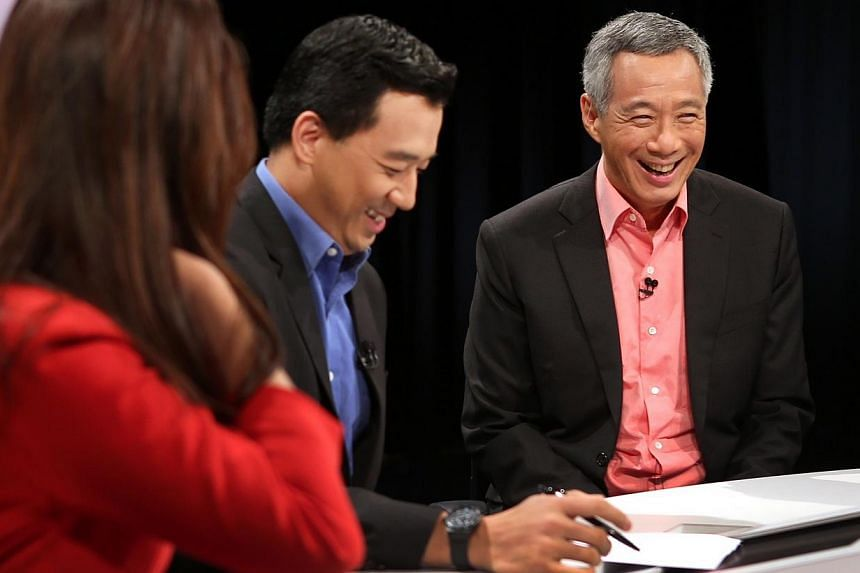 PM Lee at a live television forum last night with Channel NewsAsia hosts Dawn Tan and Nicholas Fang. Mr Lee noted that the Government's recent move to redefine success beyond paper qualifications is starting to take effect, and parents are now more o