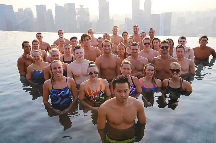 The infinity pool at Marina Bay Sands' Skypark overflowing with stardust with this collection of champions and record-breakers.