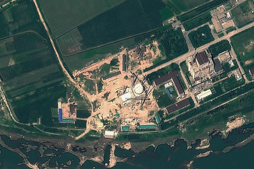This Aug 6, 2012 satellite image provided by GeoEye on Aug 22, 2012 shows the Yongbyon Nuclear Scientific Research Centre in North Korea. North Korea's reactor at its main nuclear site, capable of giving the isolated regime plutonium for nuclear weap