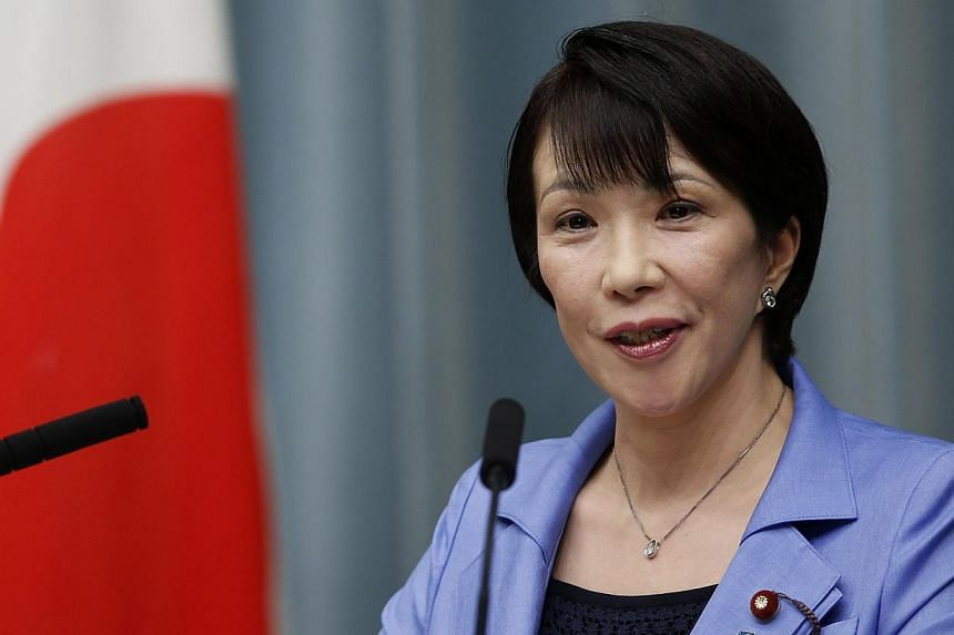 Japan's new Internal Affairs and Communications Minister Sanae Takaichi speaking during a news conference at Prime Minister Shinzo Abe's official residence in Tokyo on Sept 3, 2014. Mr Abe picked two veteran lawmakers with friendly ties to China for