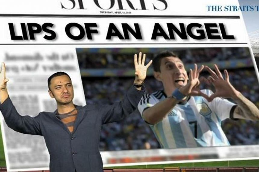 Headline writers in the British press can't wait for Manchester United's record transfer buy Angel di Maria to play when the league resumes next weekend after this week's international break. -- PHOTO: SCREENGRAB