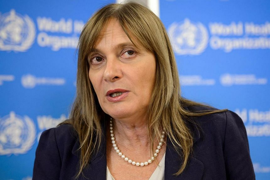 World Health Organization (WHO) Assistant Director-General Marie Paule Kieny speaks during a press conference on Sept 5, 2014 in Geneva, following a two-day World health experts urgent meeting on fast-tracking experimental Ebola drugs. Global health