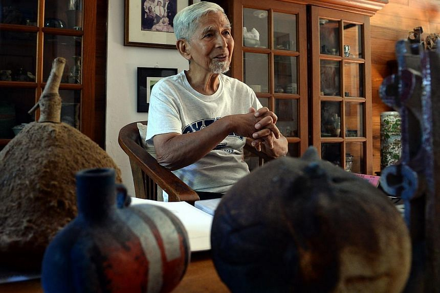 One of Singapore's most renowned artists, potter Iskandar Jalil, is suffering from Stage 4 prostate cancer. -- PHOTO: BERITA HARIAN FILE