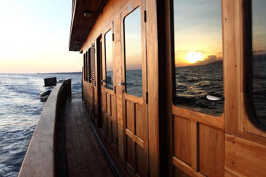 Sunset seen aboard the Tiger Blue. -- PHOTO: TIGER BLUE