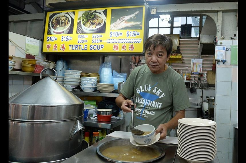 Mr Koh Hui Boon (above) of Kin Turtle Soup says he will move resources back to the flagshipoutlet in Geylang Lorong 35, while Mr Jim Tan of Pei Yun Hong Kong Tim Sum islikely to close for good if he cannot find a suitable new location. He