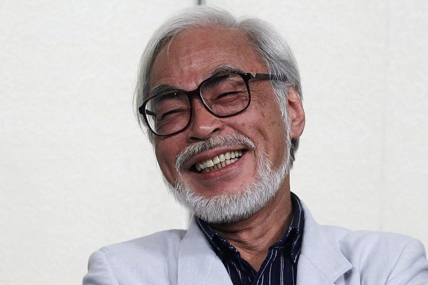 Japanese director Hayao Miyazaki speaks during a news conference held to announce his retirement from film in Tokyo, in this Sept 6, 2013 file picture.Studio Ghibli, the animation studio founded by Miyazaki, is finding the going tough after the