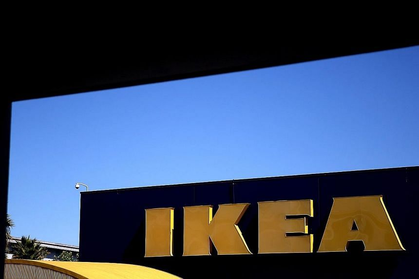 Swedish furniture giant Ikea reported growth in annual sales on Tuesday, boosted mainly by improved performance in China and a recovery in Europe. -- PHOTO: AFP
