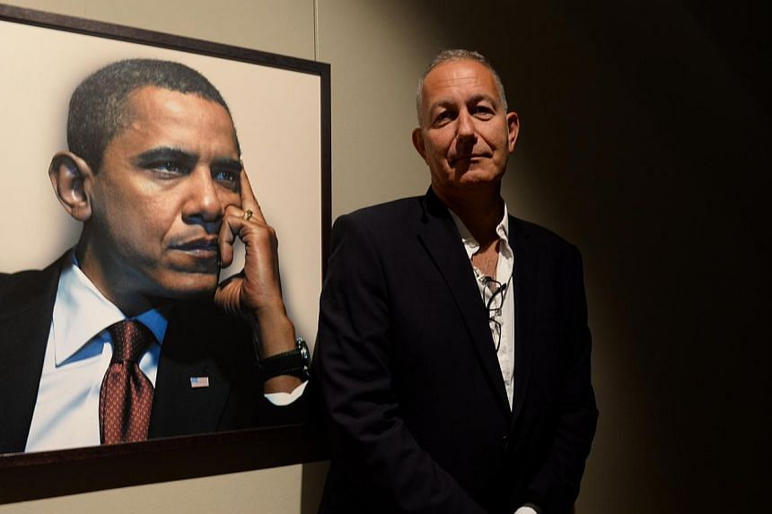 Photographer Nadav Kander (above) says politicians such as US President Barack Obama (background) are tricky to shoot. -- ST PHOTO: AZIZ HUSSIN