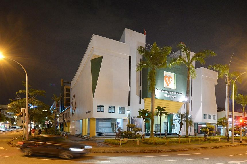 The Faith Community Baptist Church building at 3 Marine Parade Central. -- PHOTO: ST FILE