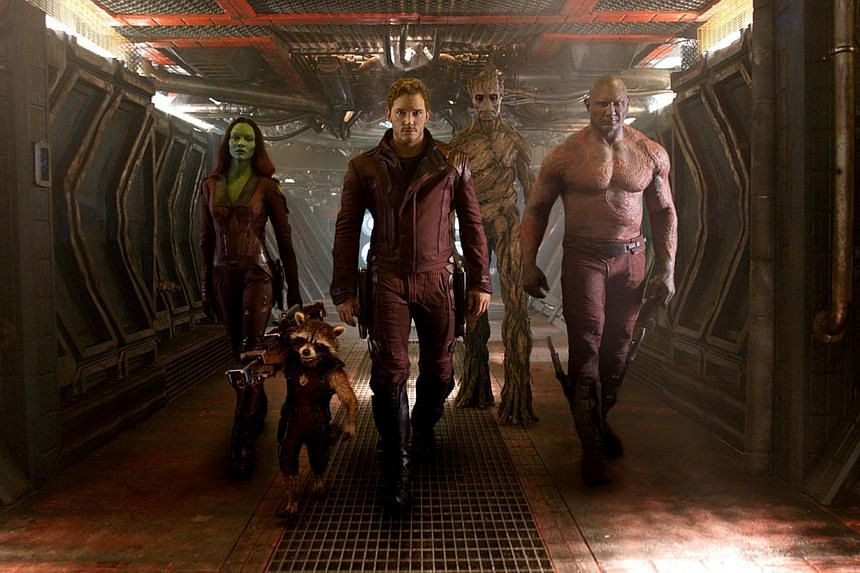 "Movie Still: Guardians Of The Galaxy. Science-fiction blockbuster ""Guardians of the Galaxy"" edged closer to the US$300 million (S$377 million) mark at the top of the North American box office as Hollywood licked its wounds after the worst summer seas"