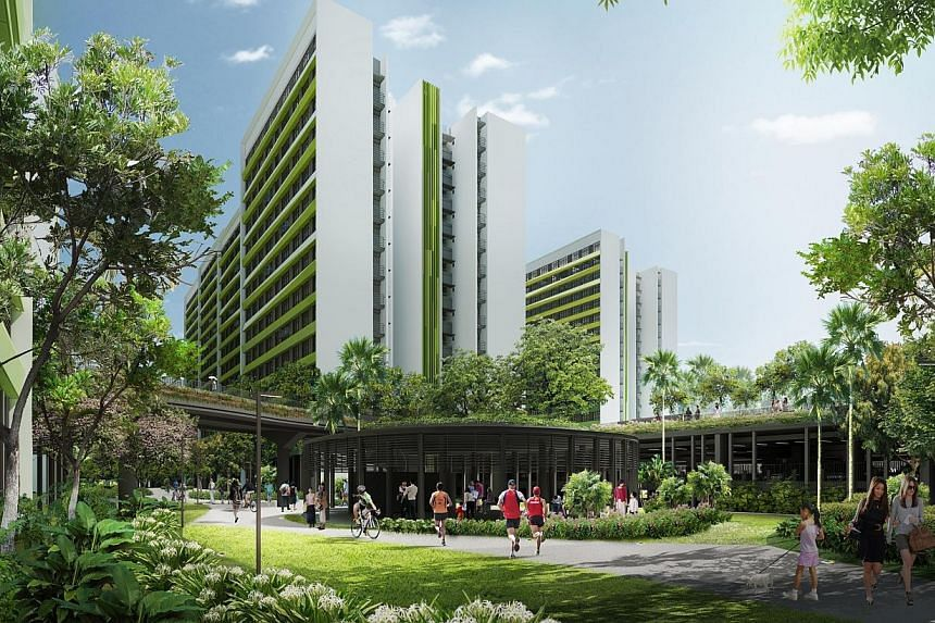 Green Canyon in Tampines North. -- PHOTO: HDB