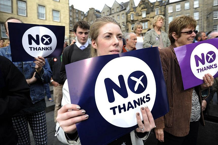 Pro-union supporters campaigning in Edinburgh. Scotland's independence dreams will dominate UK's domestic agenda for years to come.