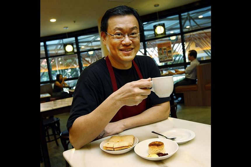Good Morning Nanyang Cafe's flagship outlet at Telok Ayer Hong Lim Green Community Centre. Owner Byron Shoh (above) will continue to offer his signature kaya at Food Glossary, which is expected to open in November. -- PHOTO: ST FILE