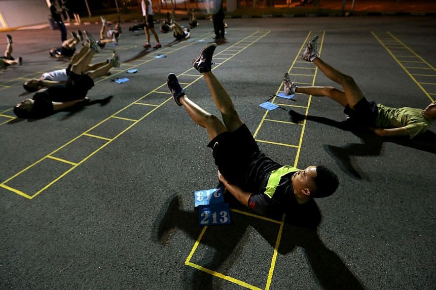 No more going back to camp to train for IPPT, like what these NSmen are doing at Maju Camp. Under a four-month trial, they will soon be allowed to attend IPPT Preparatory Training classes at venues closer to their homes and workplaces, instead of onl