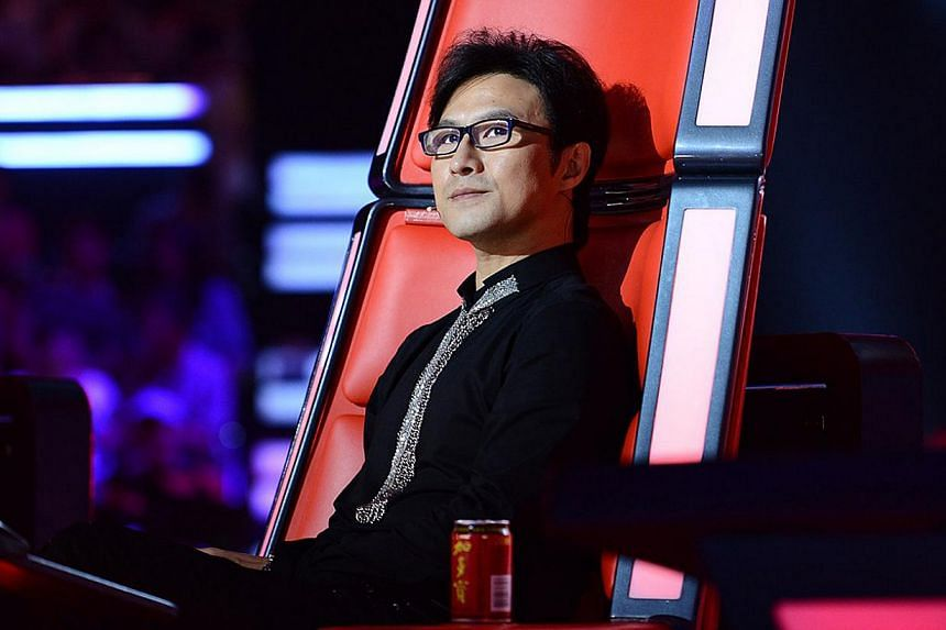 Chinese rocker Wang Feng is a judge on The Voice Of China.-- PHOTO: MEDIACORP