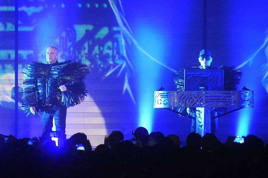Pet Shop Boys' singer Neil Tennant (left) and keyboardist Chris Lowe. -- PHOTO: UNUSUAL ENTERTAINMENT