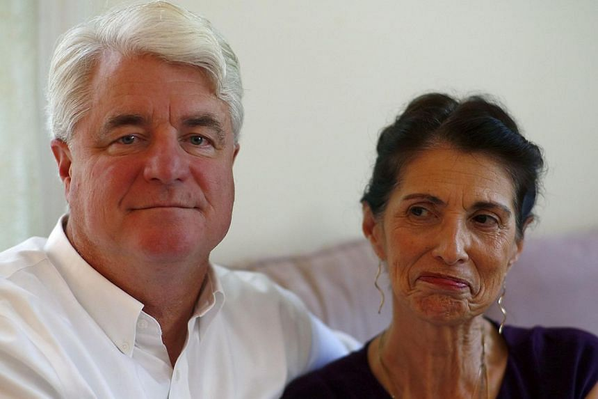 Diane and John Foley, parents of journalilst James Foley, sit for a portrait at their home during an interview in Rochester, New Hampshire onAug 24, 2014. -- PHOTO: AFP