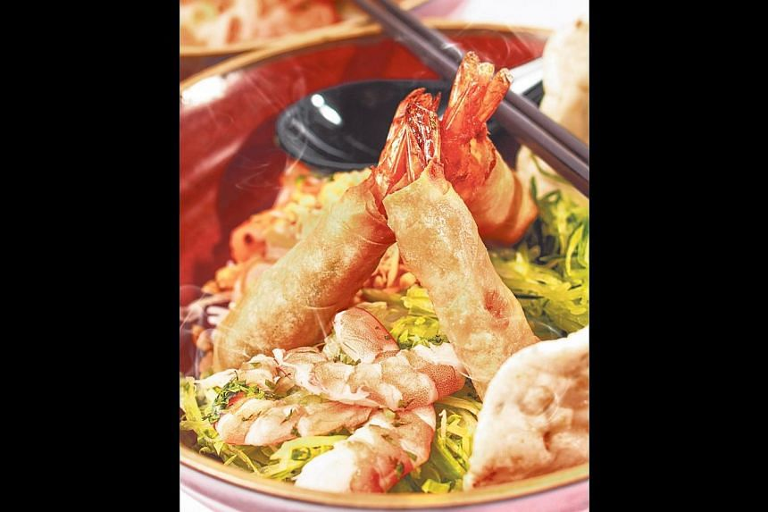 Cold Vermicelli With Deep Fried Prawn Rolls. -- PHOTO: CREATIVE CUISINE