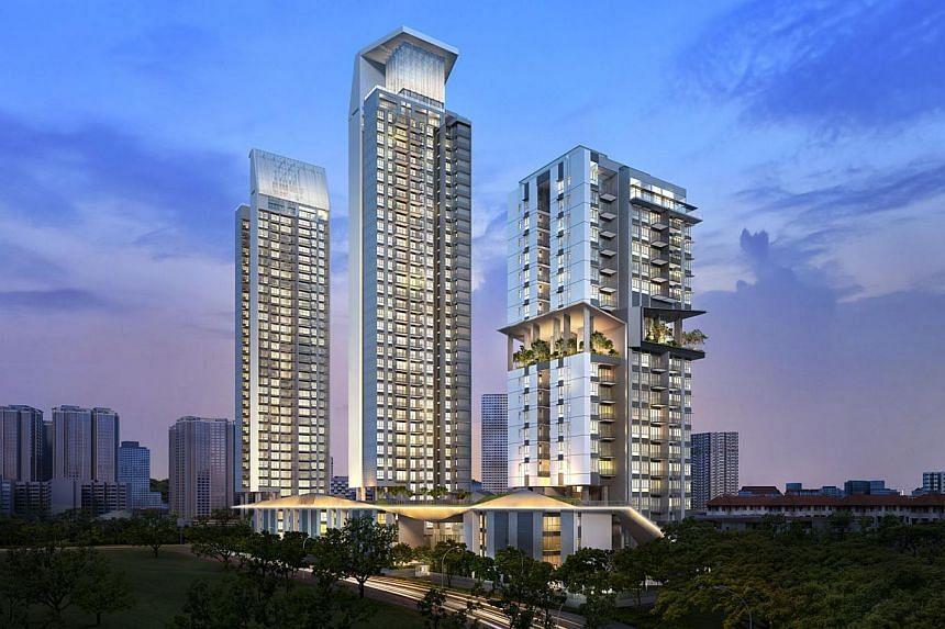 Artist's impression of Highline Residences located near Tiong Bahru MRT Station.-- PHOTO:KEPPEL LAND