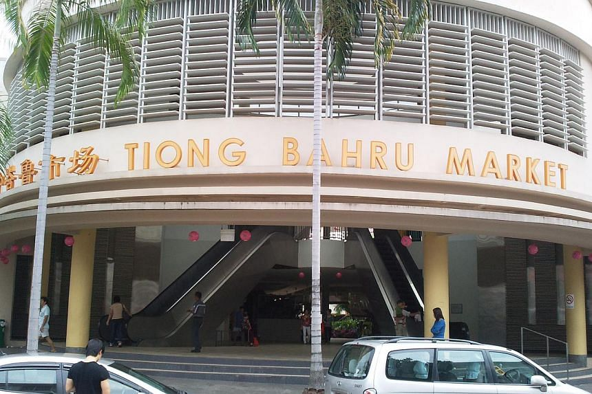 A file photo showing the Tiong Bahru Market. --PHOTO: National Heritage Board
