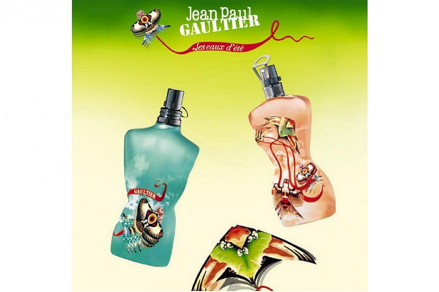 Jean Paul Gaultier has a large range of both male and female perfumes under his brand name. -- PHOTO: LUXASIA