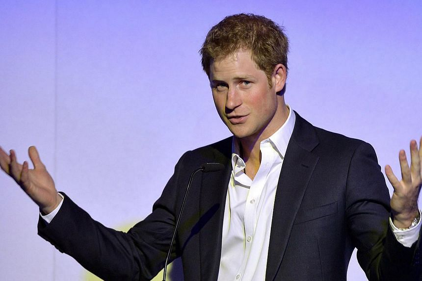"In this file picture taken on May 7, 2014, Britain's Prince Harry delivers his speech during the ""Sentebale Summer Party"" in London. Prince Harry is celebrating his 30th birthday today, Sept 15, 2014. -- PHOTO: AFP"
