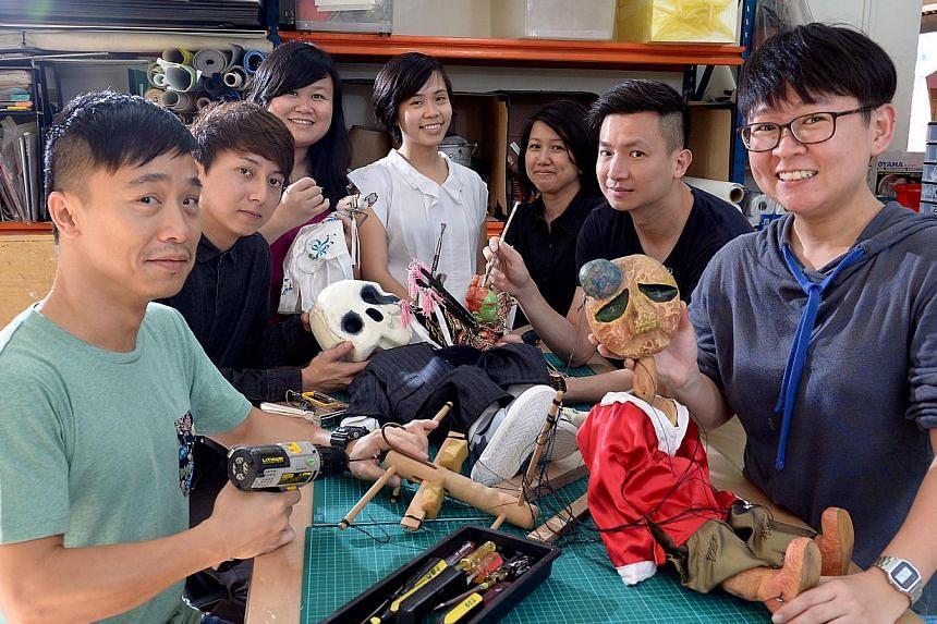 lighting designer; Chong Tze Chien, company director; and Ang Hui Bin, resident artist.