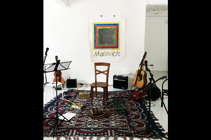"""""""Malevich"""" live performance with Lee Wen. -- PHOTO: CENTRE FOR CONTEMPORARY ART SINGAPORE"""