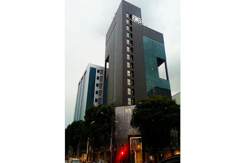 The boutique BIG Hotel at Middle Road is up for sale. -- PHOTO:COLLIERS INTERNATIONAL