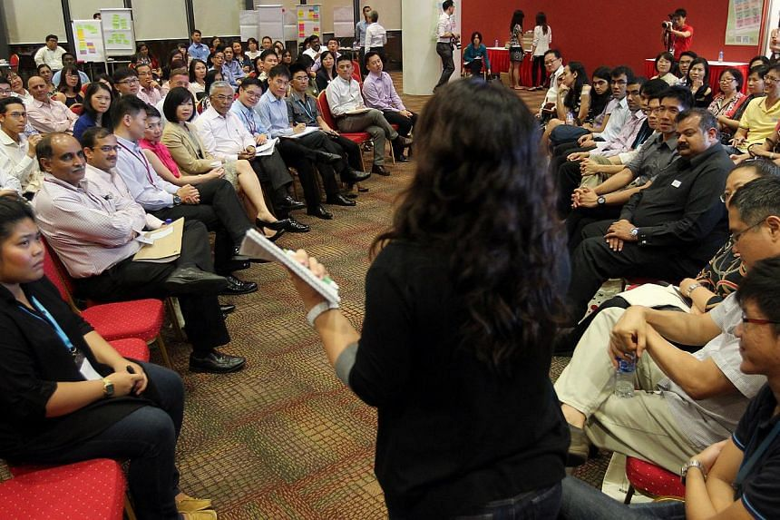 Participants at an Our Singapore Conversation session on education last year. Through the national dialogue, the Government has created a greater sense of autonomy and feelings of being respected in the people.