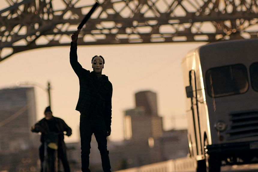 The violence in The Purge: Anarchy (above) strikes a chord in cinemagoers, says producer Jason Blum. -- PHOTO: UIP