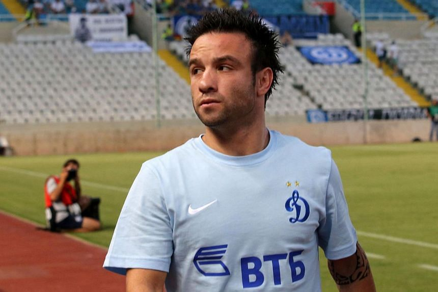French midfielder Mathieu Valbuena will miss at least two of Dynamo Moscow's upcoming games after undergoing an appendectomy, the club's sporting director Guram Adzhoev said on Wednesday. -- PHOTO: AFP