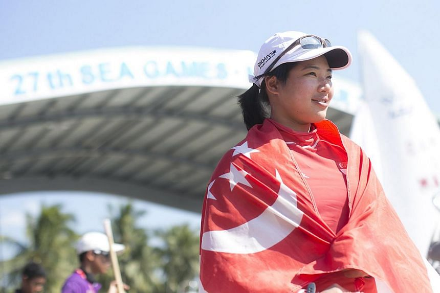 Sailor Elizabeth Yin has ensured that Singapore will also be represented in the Laser Radial event at the 2016 Olympics, after she did well enough at the Isaf World Sailing Championships in Santander, Spain. -- PHOTO: SINGAPORE SPORTS COUNC