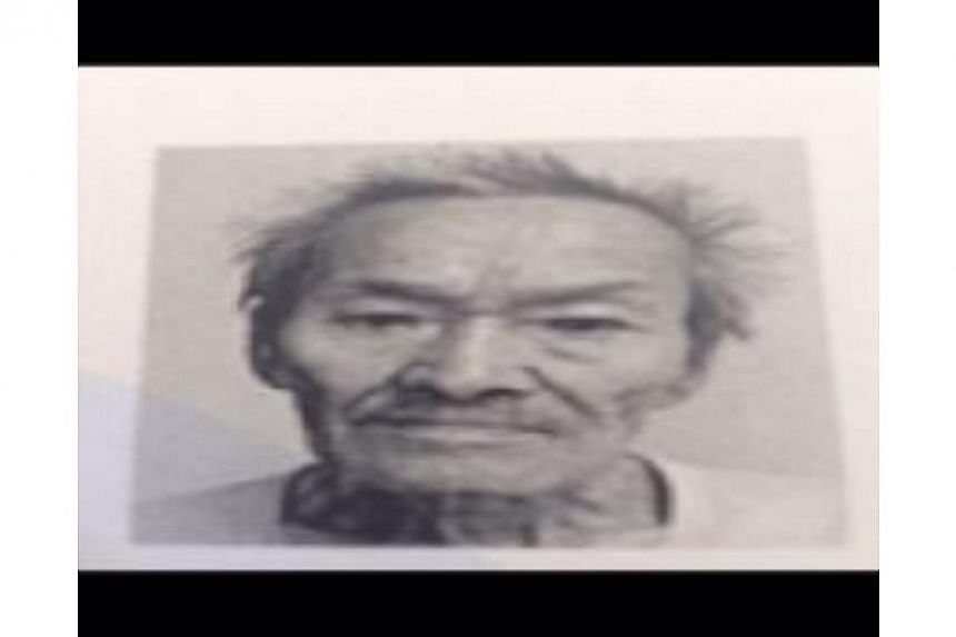 The police are appealing for information on a missing 82-year-old man last on Tuesday. -- PHOTO: SINGAPORE POLICE FORCE