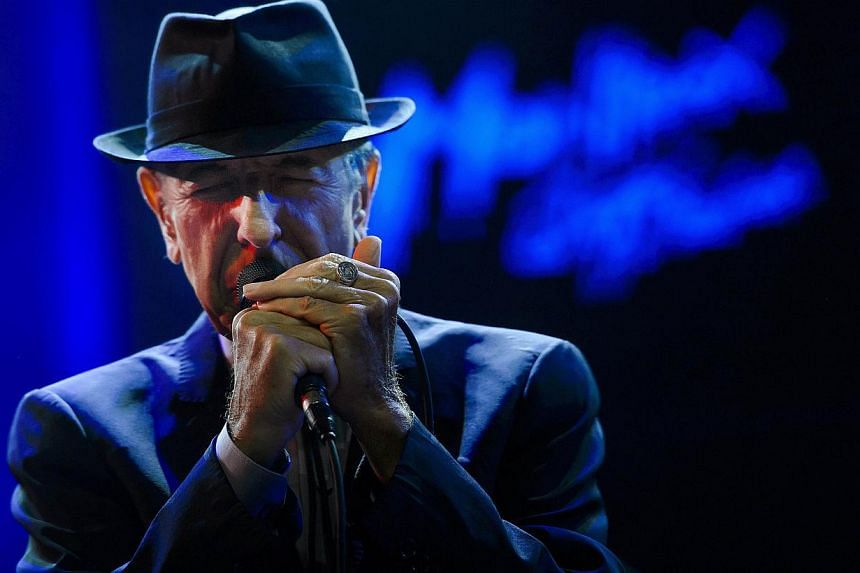 Canadian songwriter Leonard Cohen performing at the Auditorium Stravinski during the 47th Montreux Jazz Festival in Montreux, Switzerland on July 5, 2013. -- PHOTO: AFP