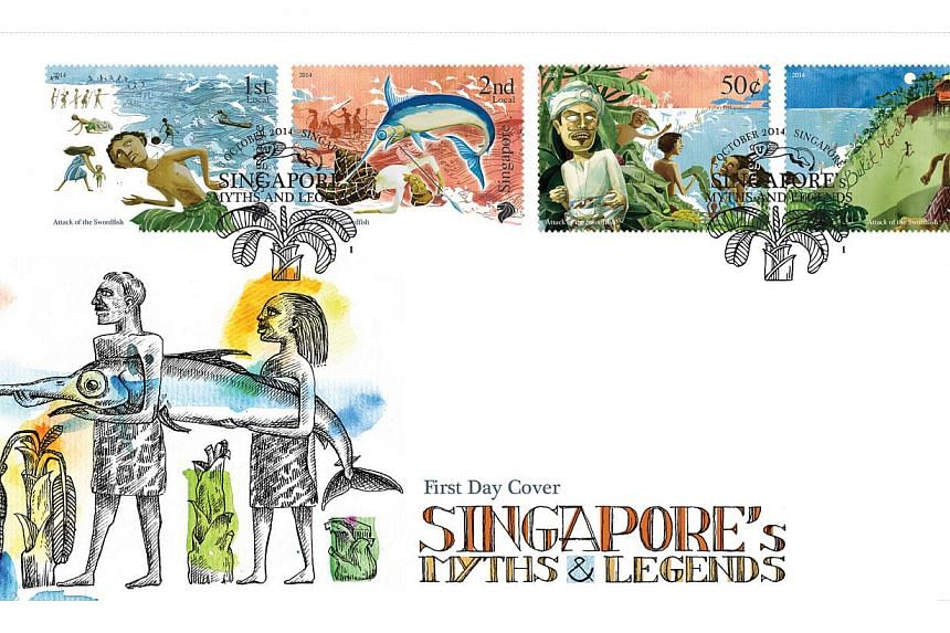 It will also feature the legend of Sang Nila Utama, a prince from Palembang who, as the story goes, discovered the island of Singapore (known then as Temasek) while out on a hunting trip. -- PHOTO: SINGAPORE POST