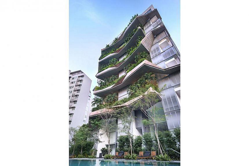 W Architects, which designed The Oliv, a condominium in Balmoral Road, won the Building Of The Year. -- PHOTO: SINGAPORE INSTITUTE OF ARCHITECTS