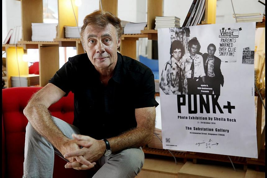 Sex Pistols founding member Glen Matlock will be performing tonight at the Agnes b. Punk+ photo exhibition at The Substation. -- ST PHOTO: LAU FOOK KONG