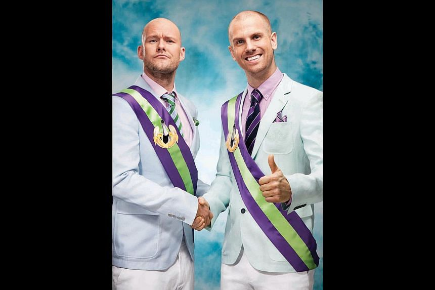 """DJ duo Olle Corneer (left) and Stefan Engblom promise partygoers that they will """"come absolutely beautiful and leave ugly"""". -- PHOTO: COURTESY OF DADA LIFE"""