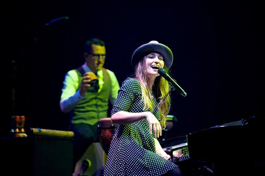 American singer-songwriter Sara Bareilles' latest Singapore gig proved to be a life-changing experience - for one couple, in particular. -- PHOTO: JOANNA KWA