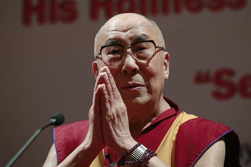 The Dalai Lama indicated on Thursday, Oct 2, 2014, that he was in informal talks with China to make a historic pilgrimage to Tibet after more than half a century in exile. -- PHOTO: REUTERS