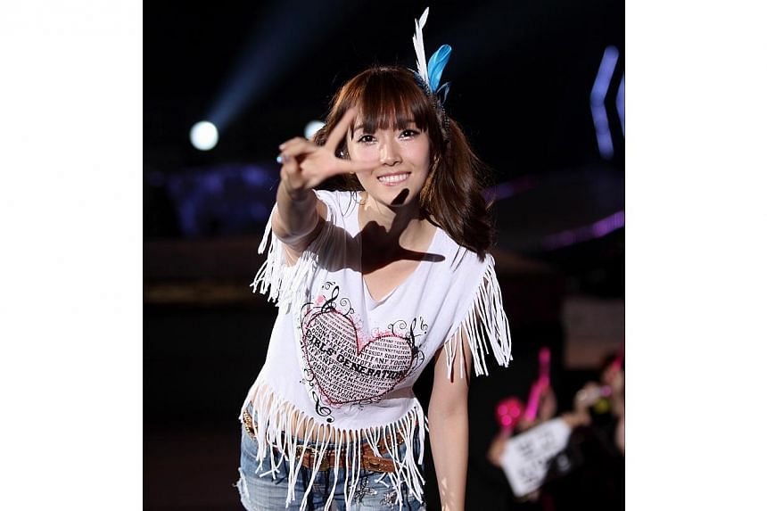Jessica, former member of Korean girl group Girls' Generation, performing at their recent concert held at the Seoul Olympic Stadium. -- PHOTO: SM TOWN