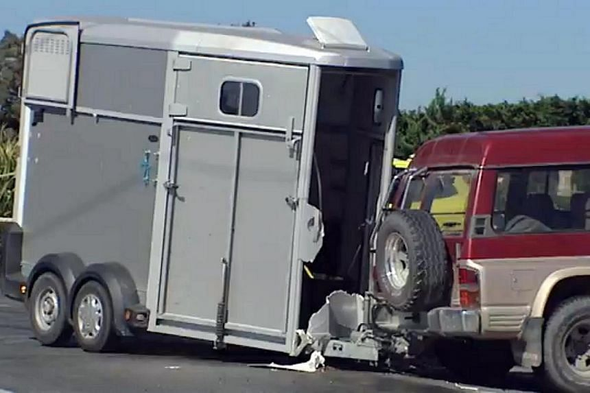 The car with the five SIA crew members collided with the four-wheel-drive that was towing a horse trailer yesterday morning. The accident took place at a cross-junction on the outskirts of Christchurch, New Zealand. Chief steward Chew Weng Wai is in