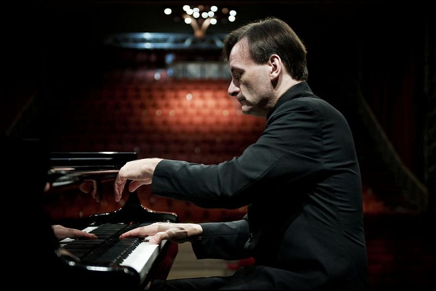 British pianist Stephen Hough has made regular concert appearances in Singapore since the 1990s, and has gained a large fan base here. -- PHOTO: SIM CANETTY-CLARKE