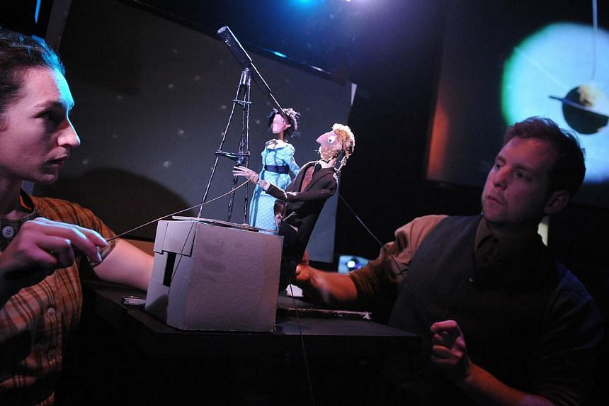 Something Very Far Away by British troupe Unicorn Theatre uses puppetry and an astronomer's haunting love story to enchant children and adults. -- PHOTO: ROBERT DAY