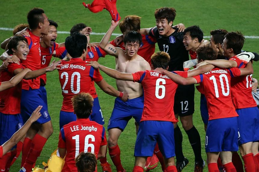 Better late than never, the South Koreans clinch the football gold medal - their first in 28 years - courtesy of a goal scored by defender Rim Chang Woo mere seconds before full time.