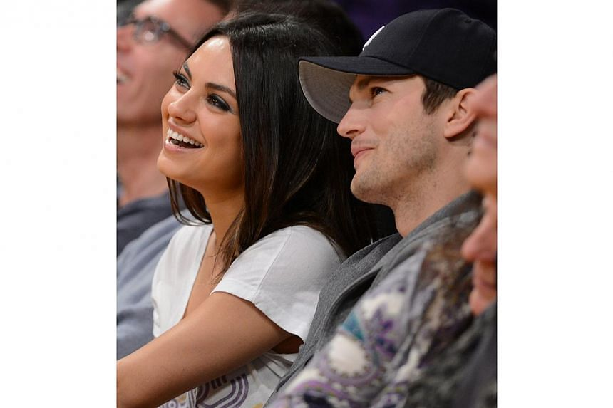 Ashton Kutcher, the star of the hit television show Two and a Half Men and his partner, actress Mila Kunis, have named their baby daughter Wyatt Isabelle, the actor said. -- PHOTO: AFP