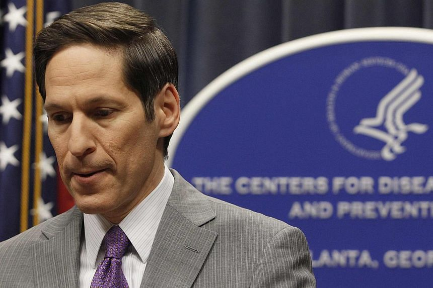 """Centres for Disease Control and Prevention director Thomas Frieden speaks at the CDC headquarters in Atlanta, Georgia on Sept 30, 2014. He said on Thursday he """"remains confident"""" that the US can contain the spread of the Ebola virus, after up to 100"""